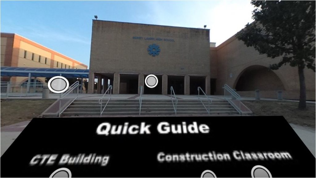 Snapshot of Lanier High School's virtual tour